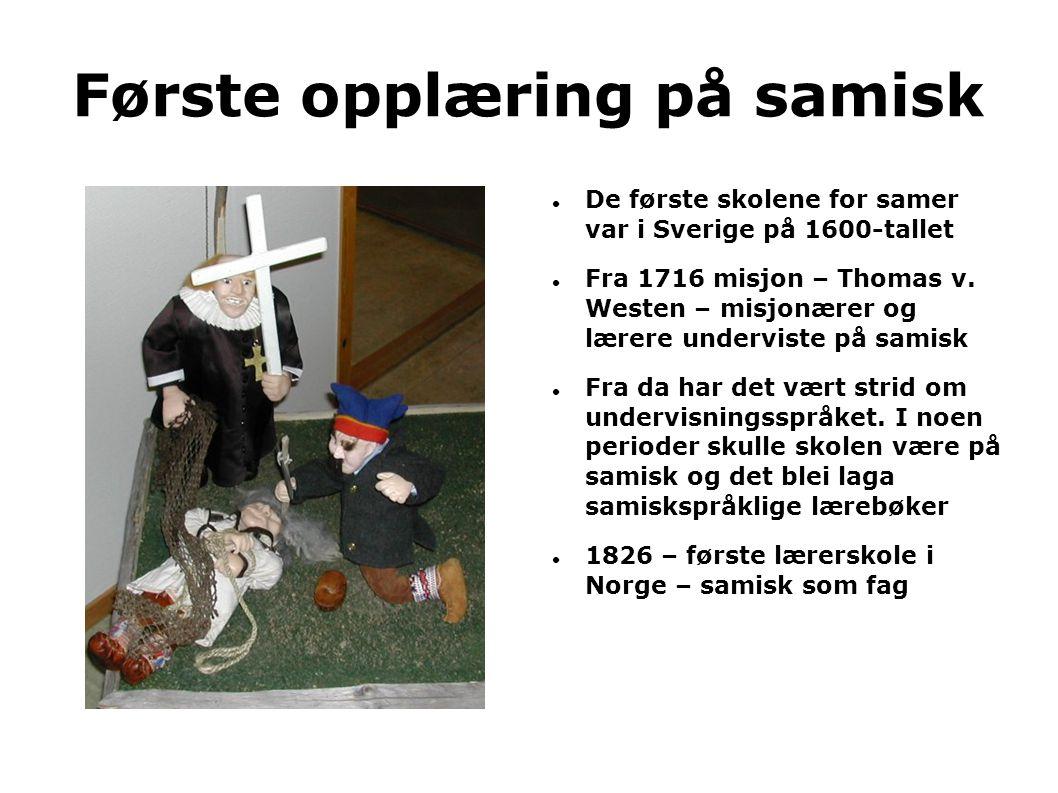 Første opplæring på samisk