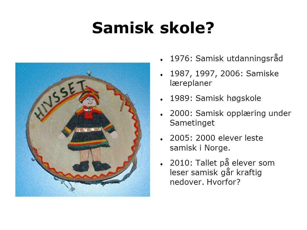 Samisk skole 1976: Samisk utdanningsråd