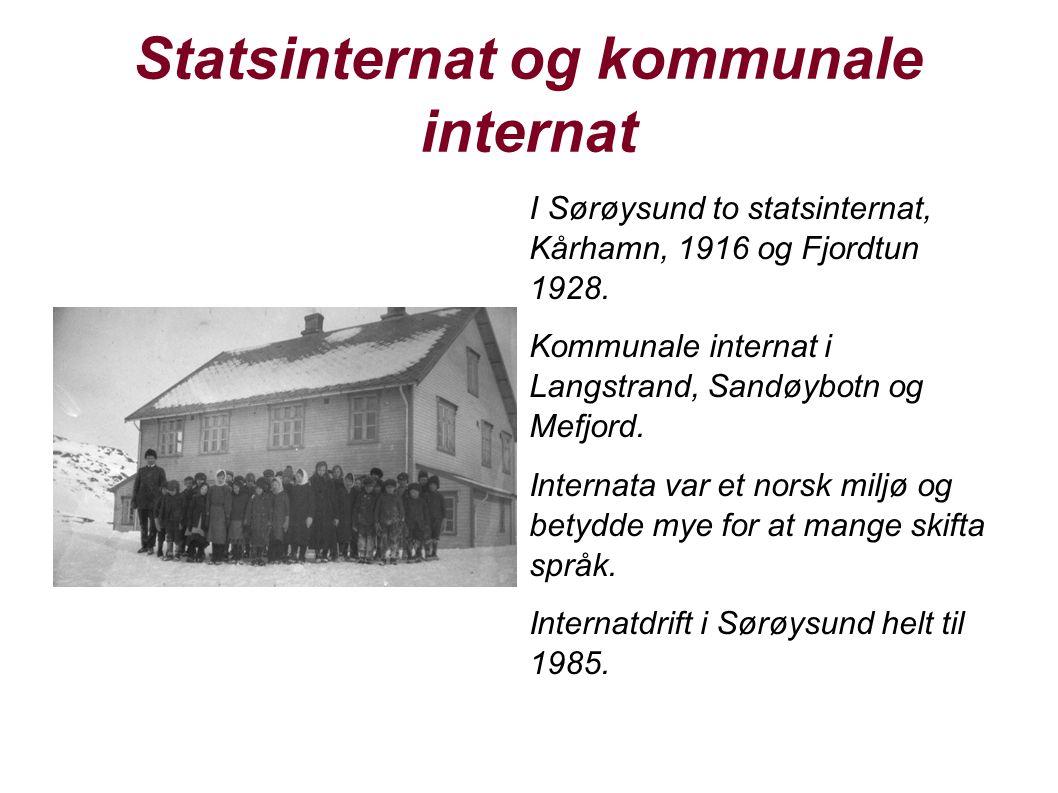 Statsinternat og kommunale internat