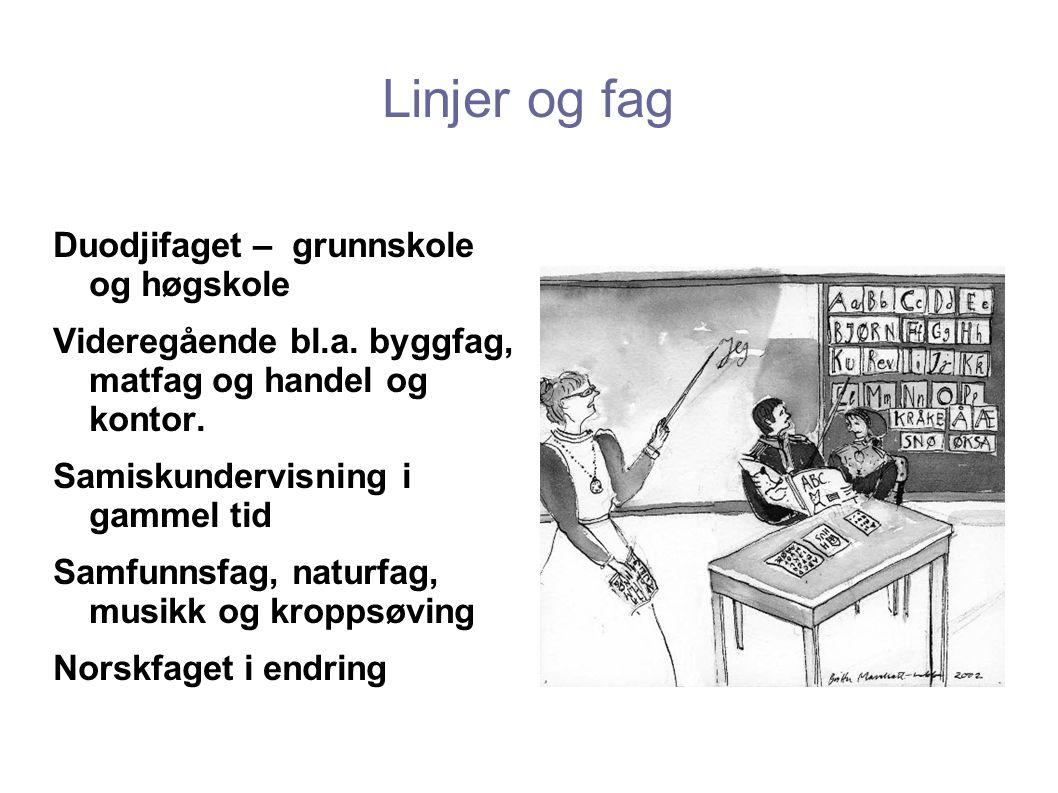 Linjer og fag Duodjifaget – grunnskole og høgskole