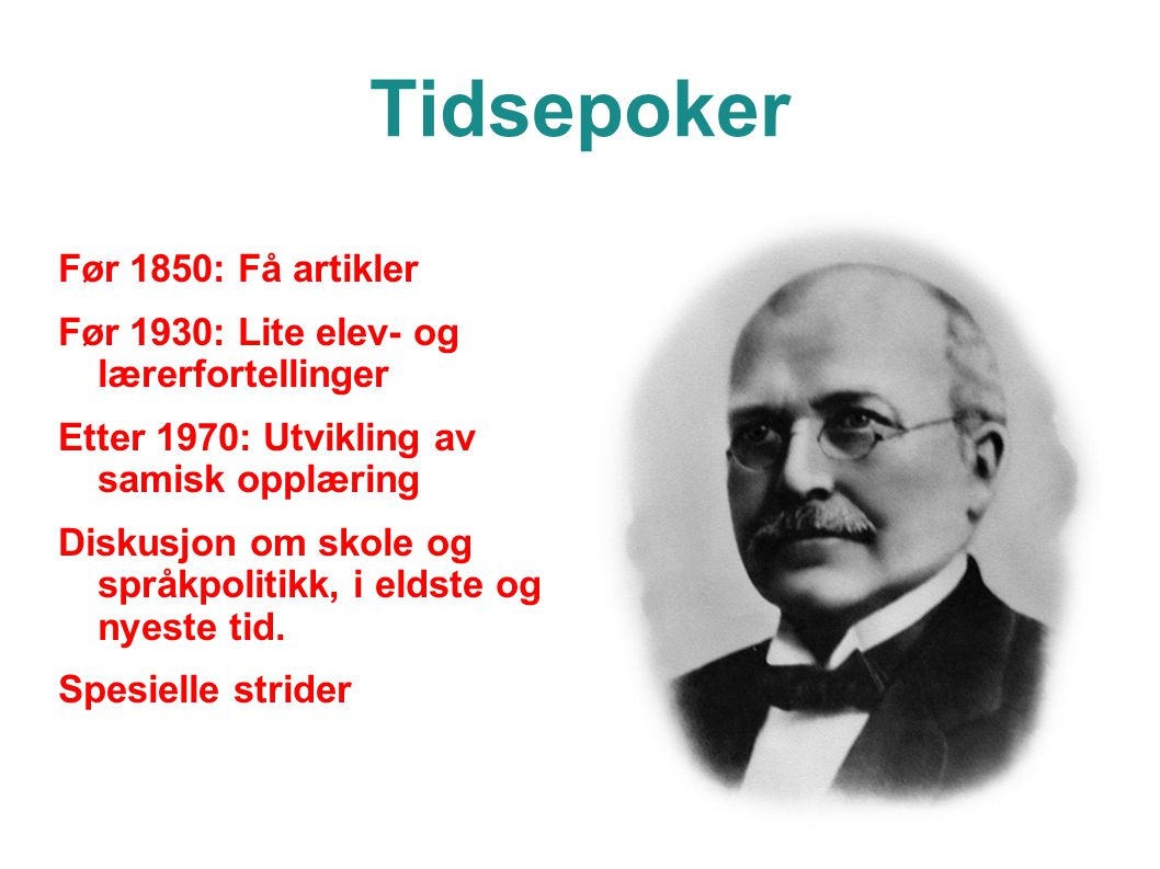 Tidsepoker Før 1850: Få artikler