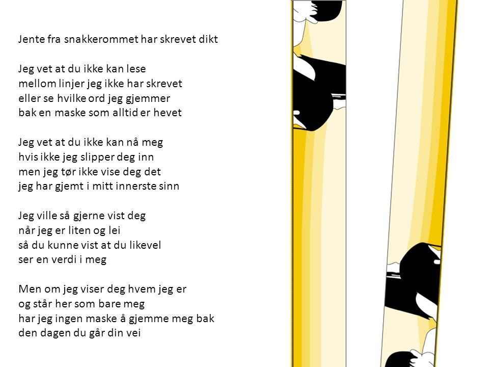 Jente fra snakkerommet har skrevet dikt