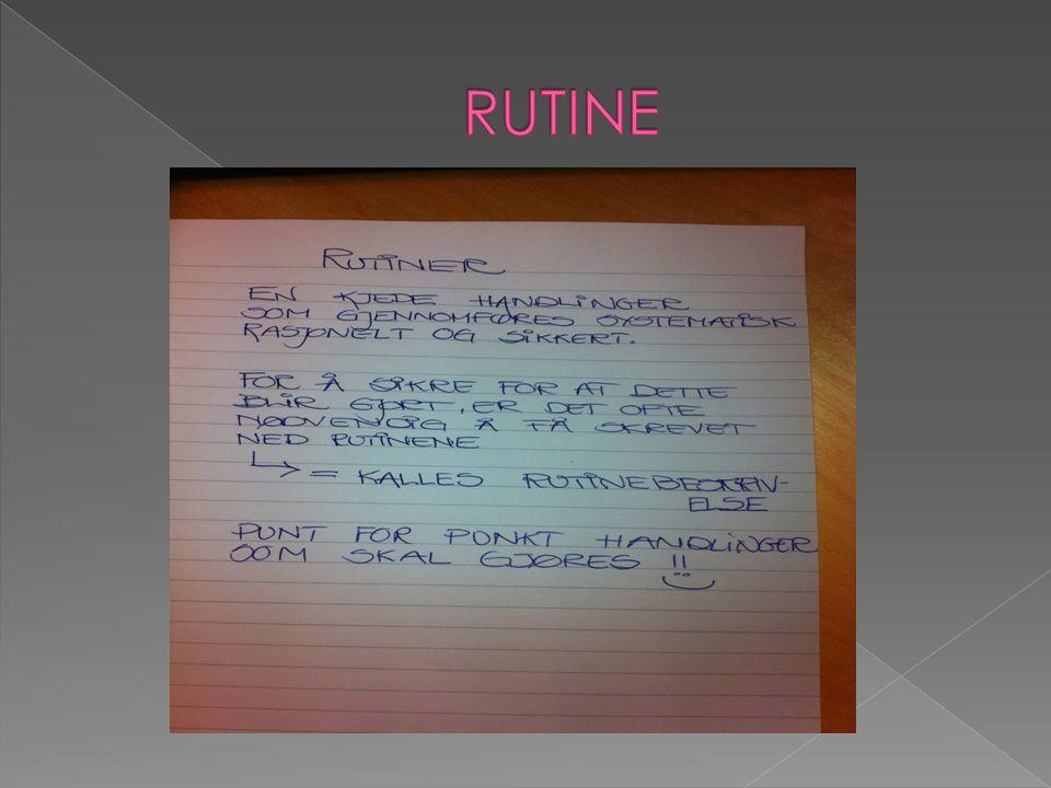 RUTINE
