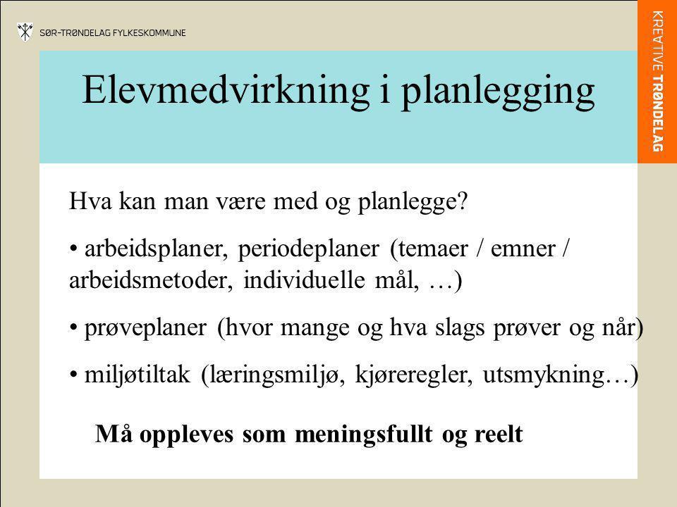 Elevmedvirkning i planlegging