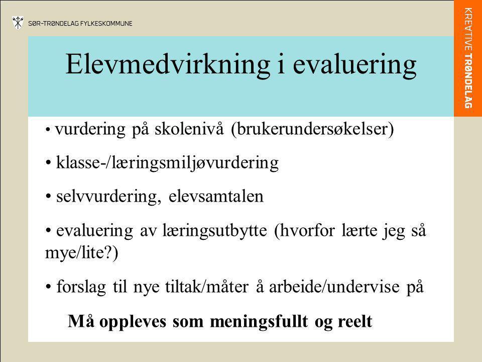 Elevmedvirkning i evaluering