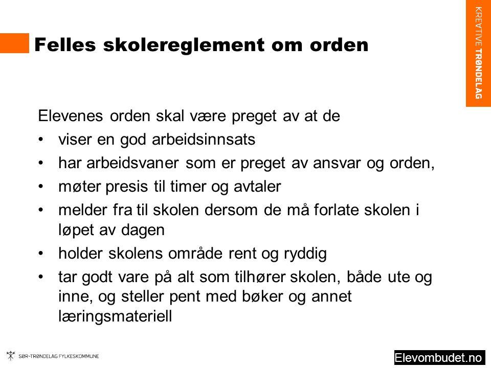 Felles skolereglement om orden