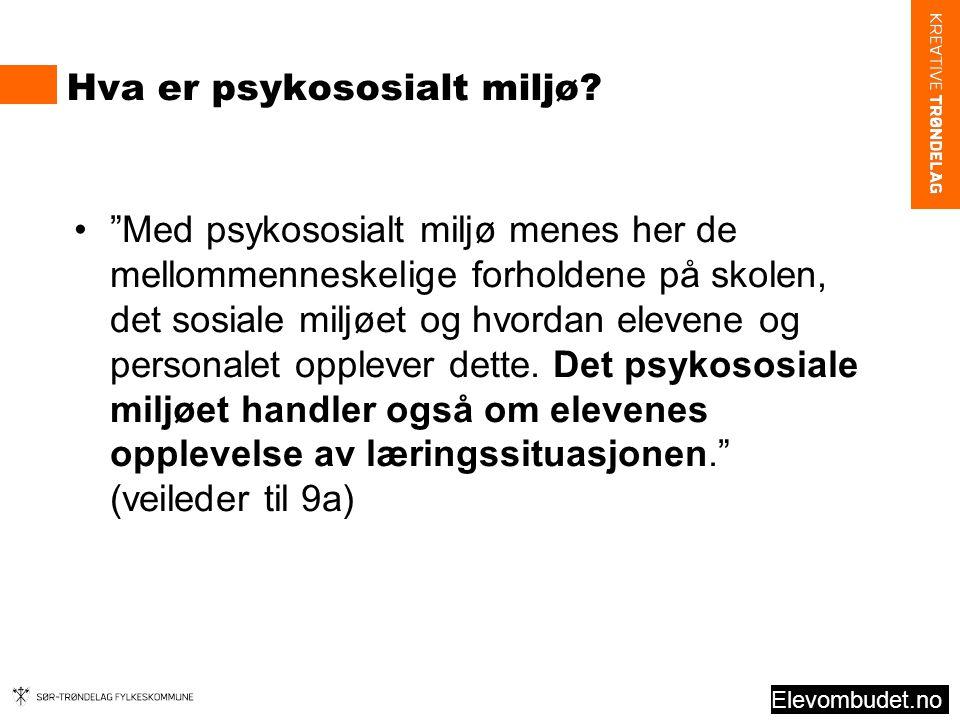 Hva er psykososialt miljø