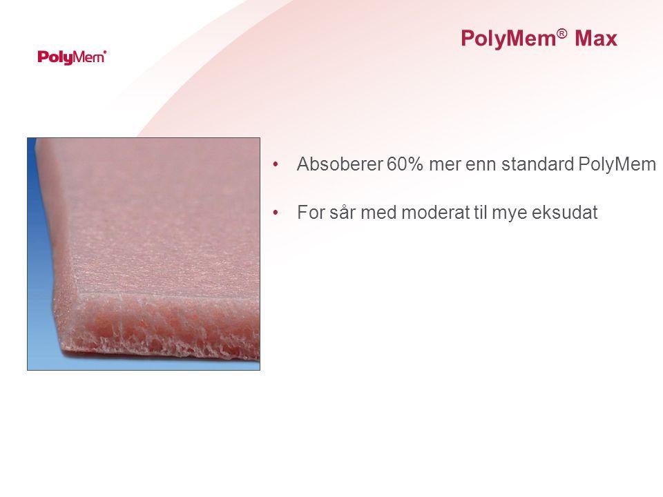 PolyMem® Max Absoberer 60% mer enn standard PolyMem