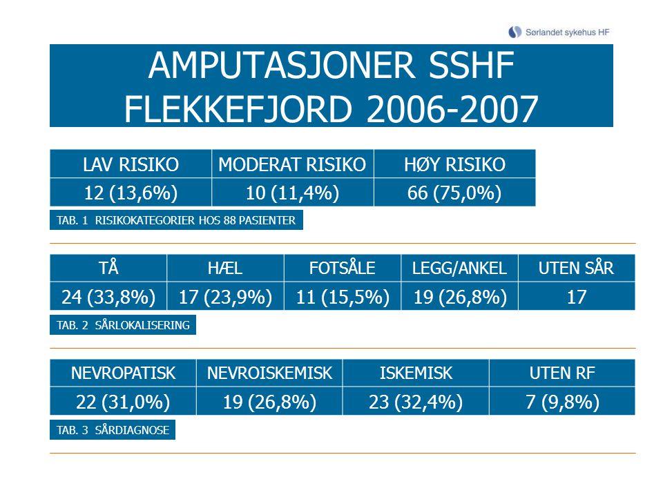 AMPUTASJONER SSHF FLEKKEFJORD 2006-2007