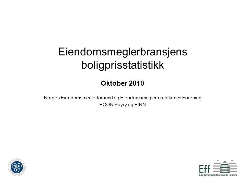 Eiendomsmeglerbransjens boligprisstatistikk Oktober 2010