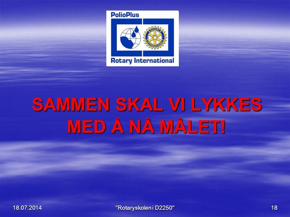 SAMMEN SKAL VI LYKKES MED Å NÅ MÅLET!