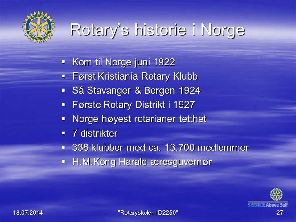 Rotary's historie i Norge