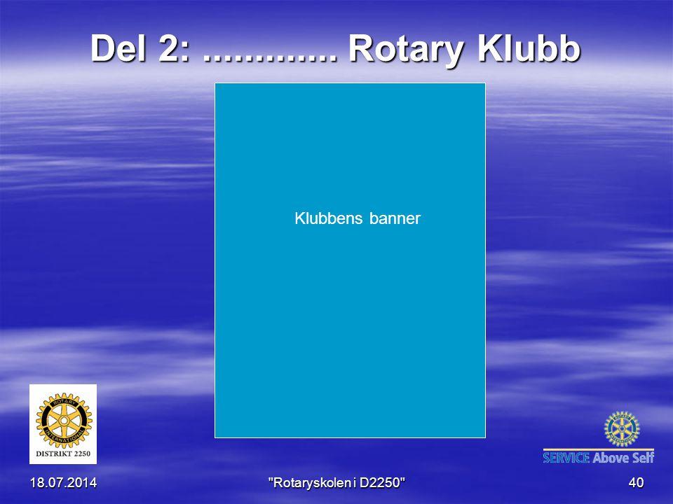 Del 2: ............. Rotary Klubb Klubbens banner 04.04.2017
