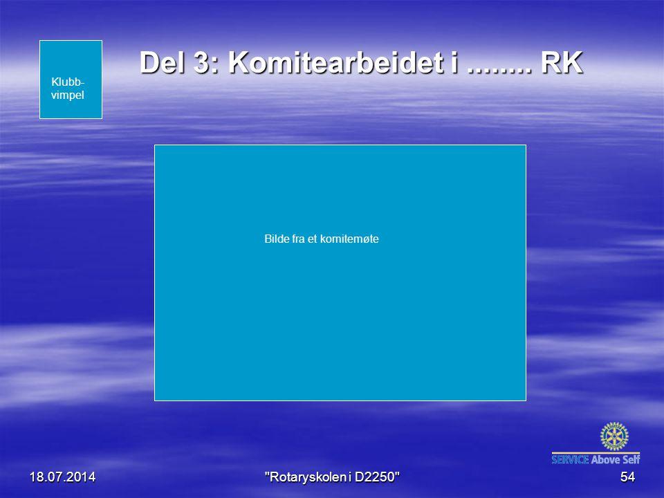 Del 3: Komitearbeidet i ........ RK