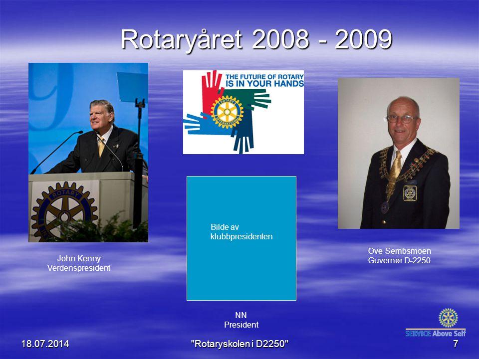 Rotaryåret 2008 - 2009 04.04.2017 Rotaryskolen i D2250