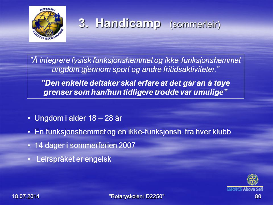 3. Handicamp (sommerleir)