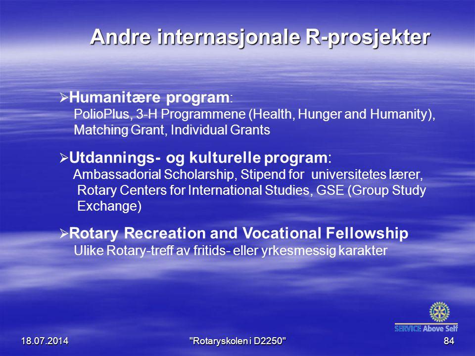 Andre internasjonale R-prosjekter