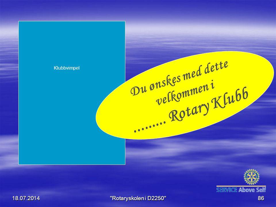 ......... Rotary Klubb Du ønskes med dette velkommen i 04.04.2017