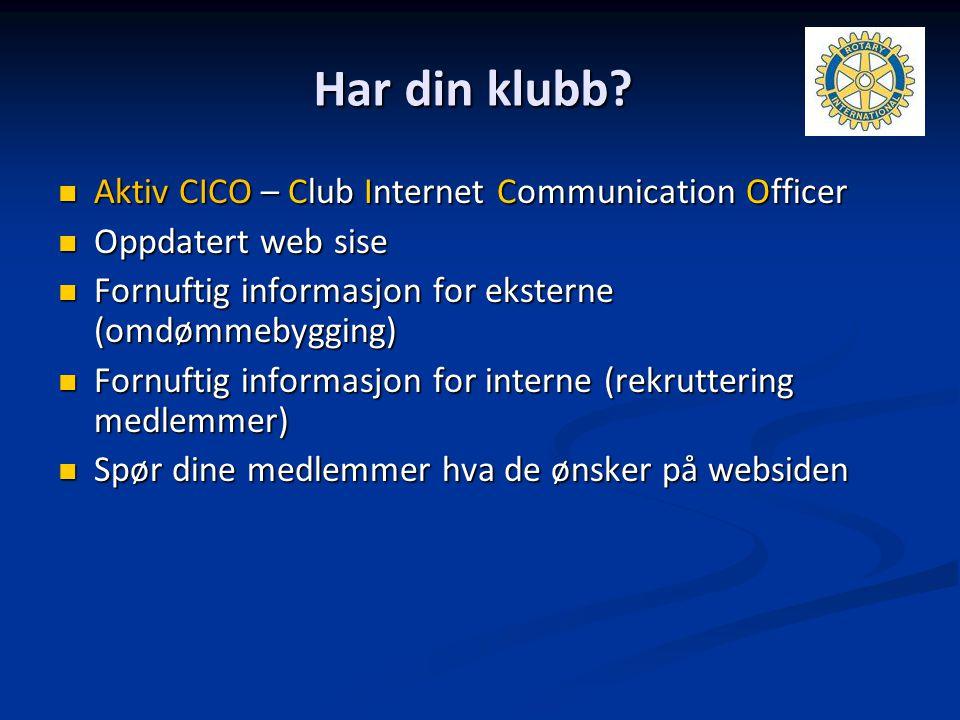 Har din klubb Aktiv CICO – Club Internet Communication Officer