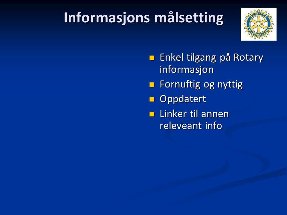 Informasjons målsetting