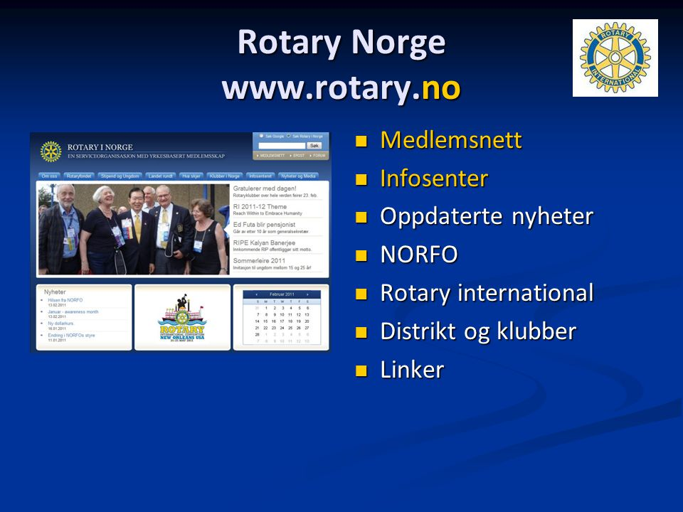 Rotary Norge www.rotary.no