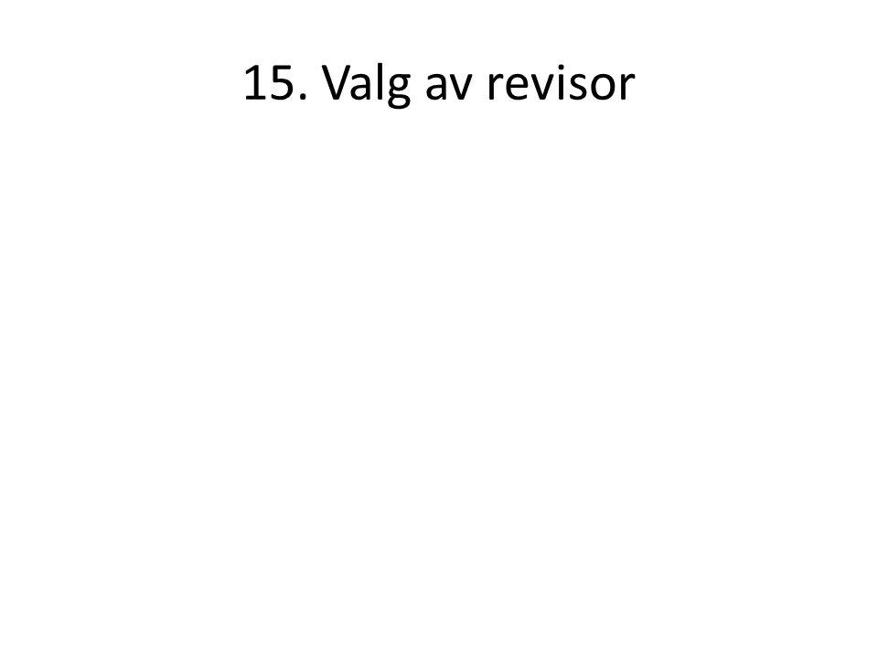 15. Valg av revisor