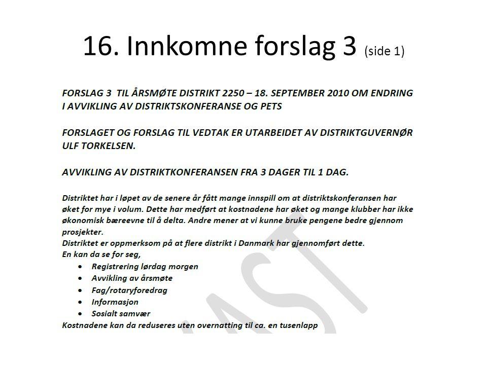 16. Innkomne forslag 3 (side 1)