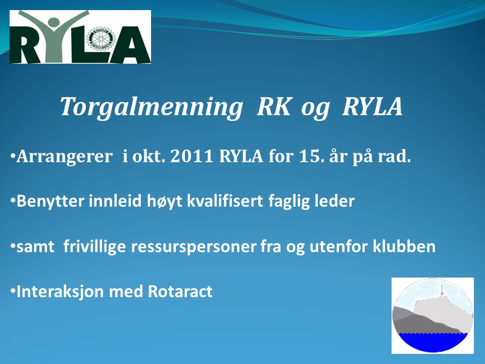 Torgalmenning RK og RYLA