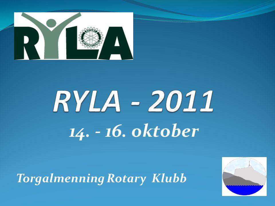 14. - 16. oktober Torgalmenning Rotary Klubb