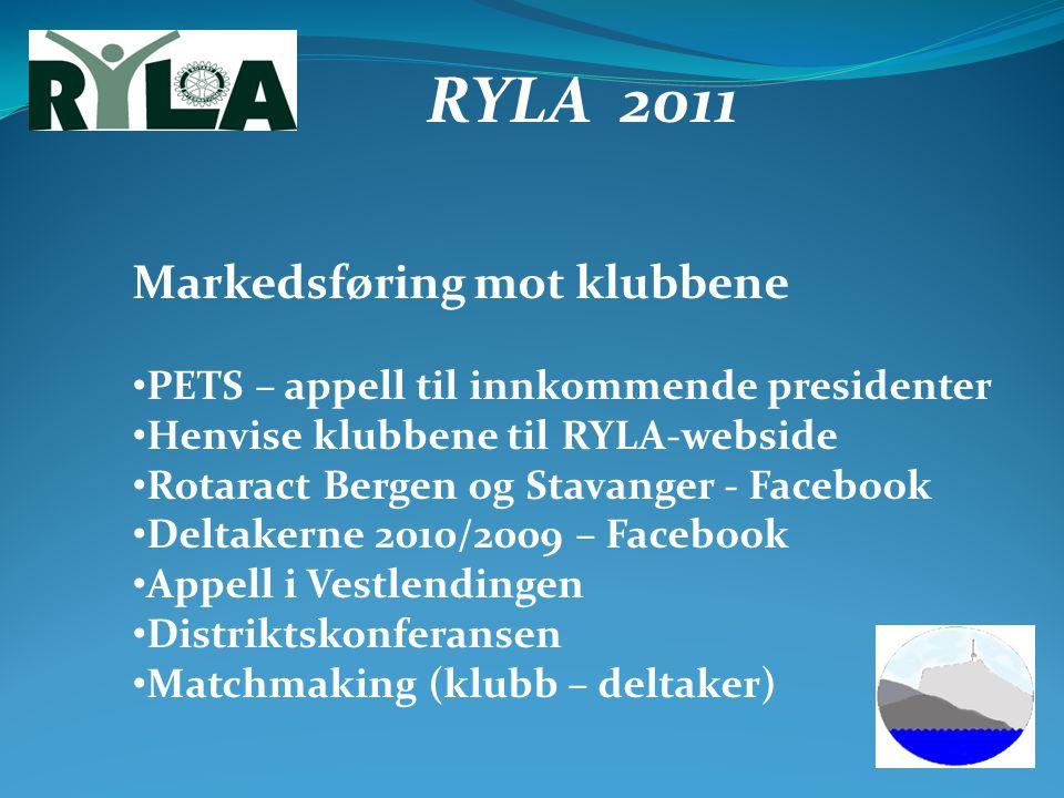 RYLA 2011 Markedsføring mot klubbene