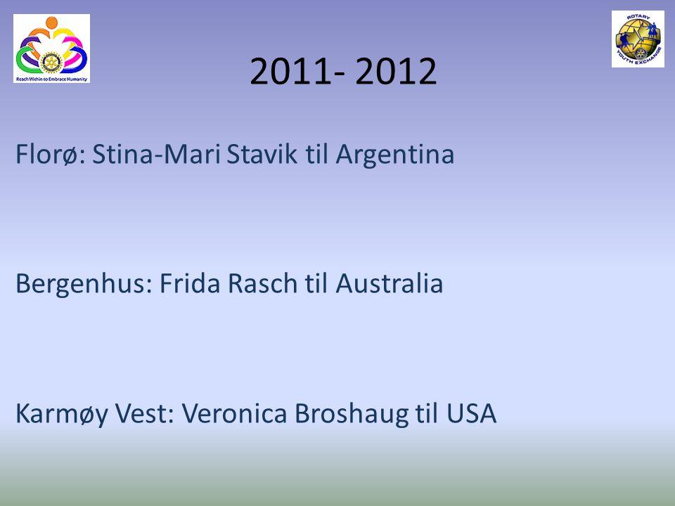 2011- 2012 Florø: Stina-Mari Stavik til Argentina