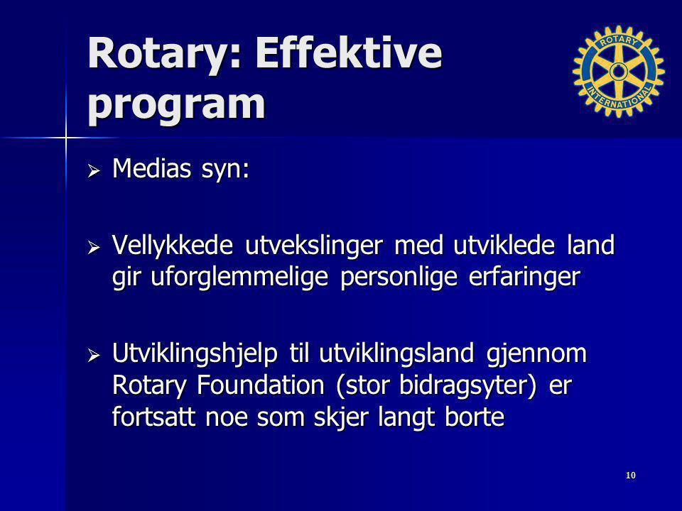 Rotary: Effektive program