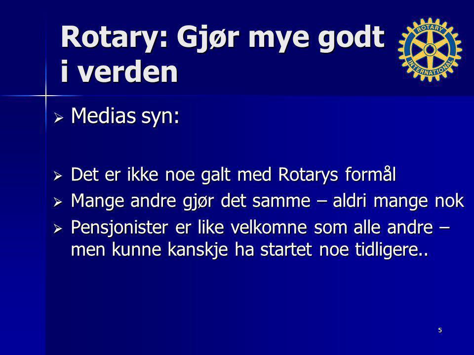 Rotary: Gjør mye godt i verden
