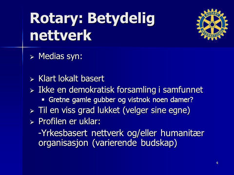 Rotary: Betydelig nettverk