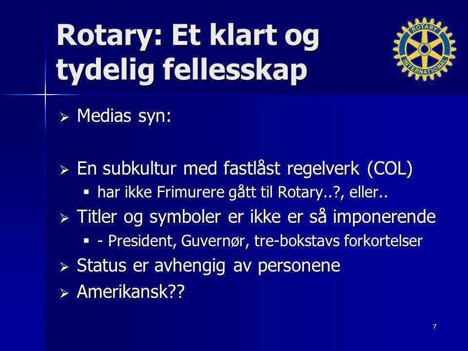 Rotary: Et klart og tydelig fellesskap