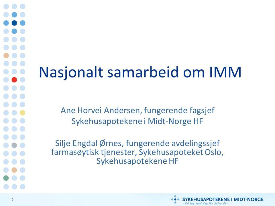 Nasjonalt samarbeid om IMM