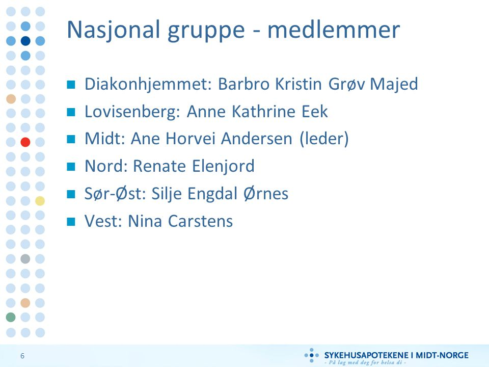 Nasjonal gruppe - medlemmer