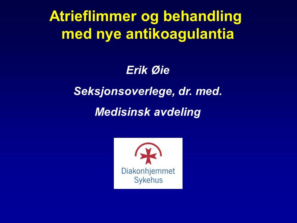 Atrieflimmer og behandling med nye antikoagulantia