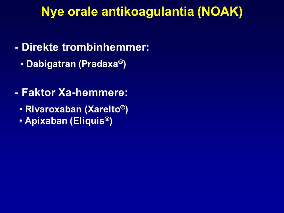 Nye orale antikoagulantia (NOAK)