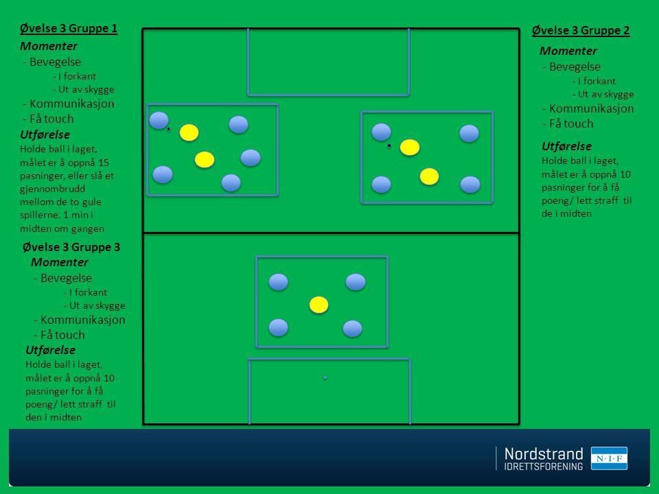 Øvelse 3 Gruppe 1 Øvelse 3 Gruppe 2 Momenter Momenter - Bevegelse