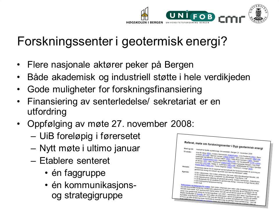Forskningssenter i geotermisk energi