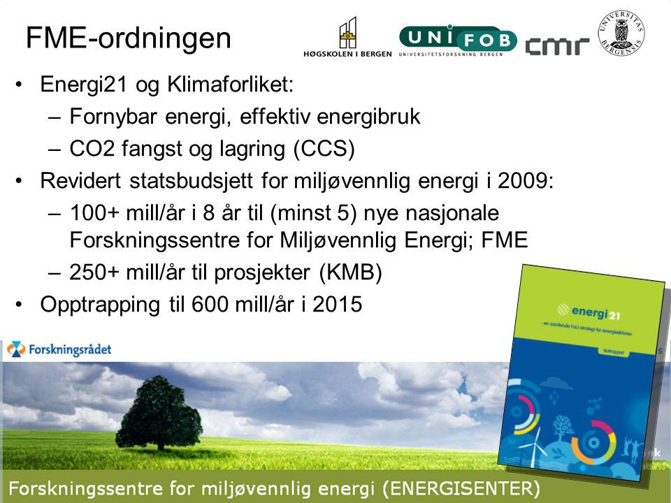 FME-ordningen Energi21 og Klimaforliket: