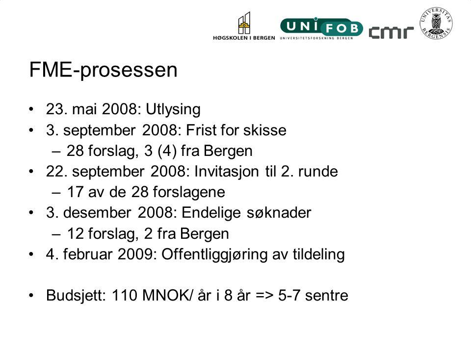 FME-prosessen 23. mai 2008: Utlysing