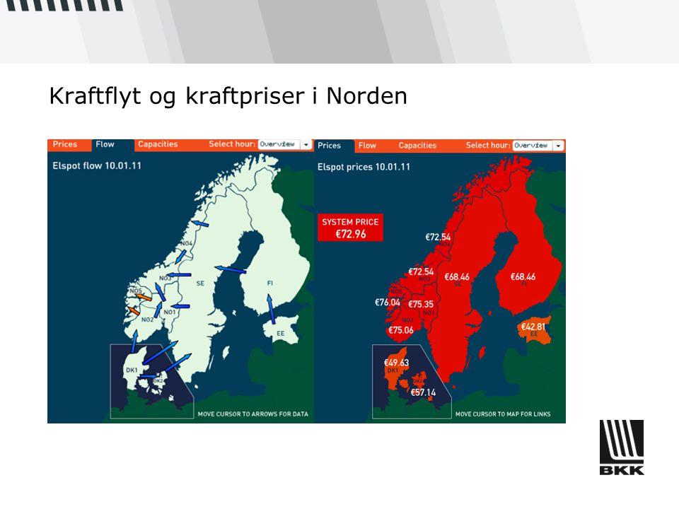 Kraftflyt og kraftpriser i Norden