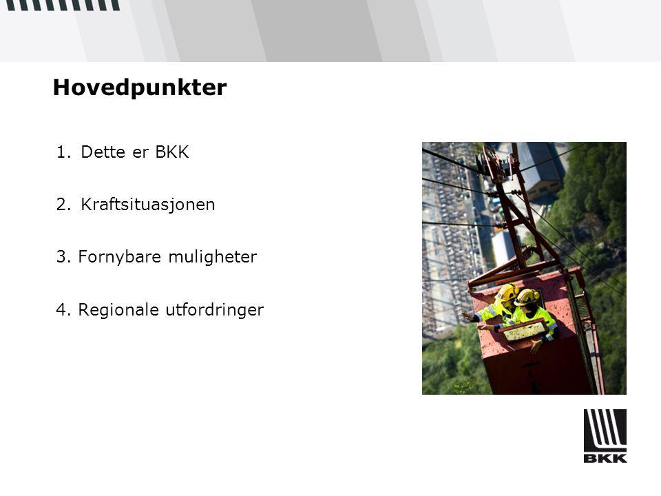 Hovedpunkter Dette er BKK Kraftsituasjonen 3. Fornybare muligheter
