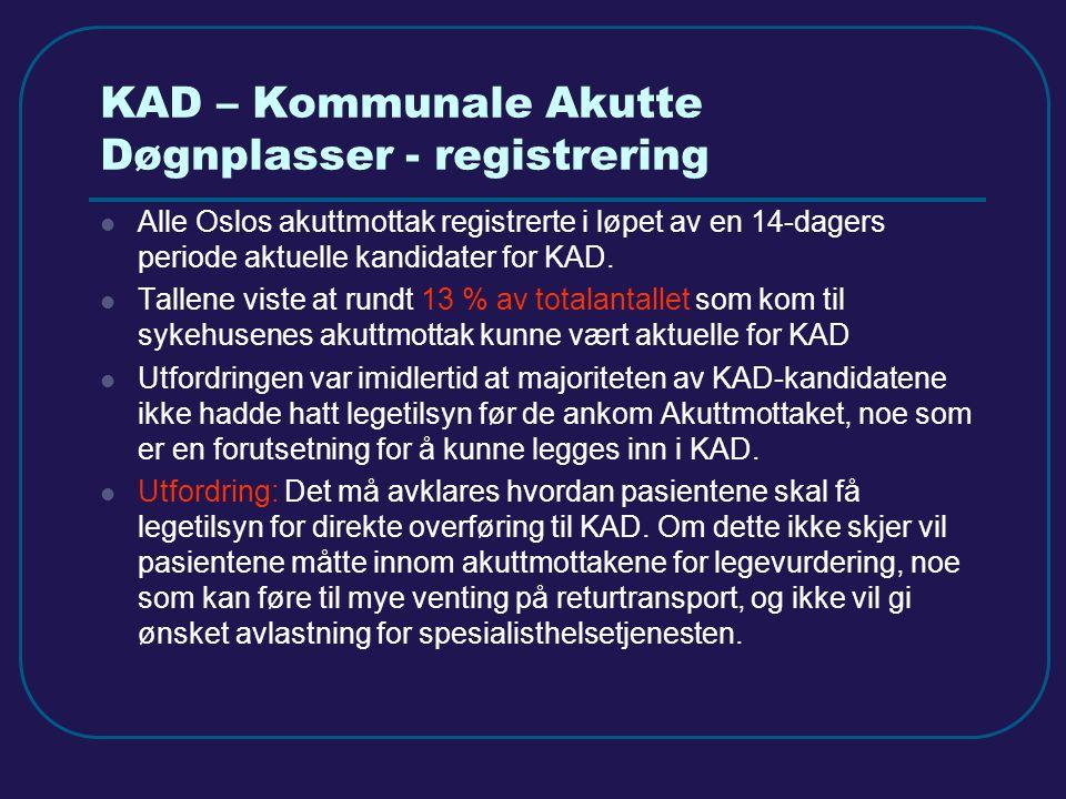 KAD – Kommunale Akutte Døgnplasser - registrering