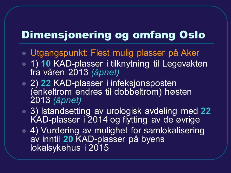 Dimensjonering og omfang Oslo