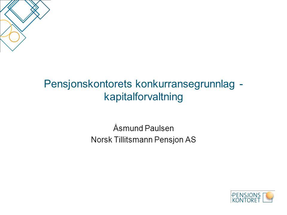Pensjonskontorets konkurransegrunnlag - kapitalforvaltning