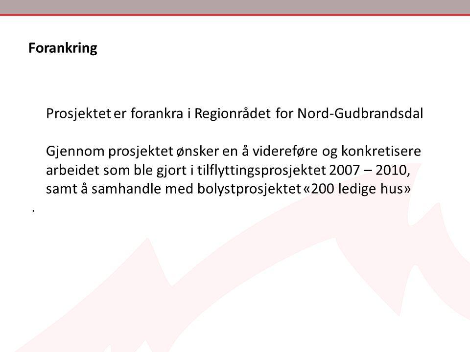 Prosjektet er forankra i Regionrådet for Nord-Gudbrandsdal