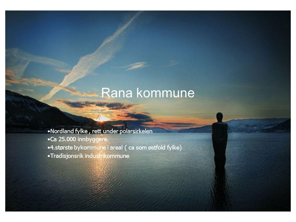 Rana kommune Nordland fylke , rett under polarsirkelen